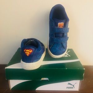Blue Leather Puma Superman Shoes - Toddler size 10